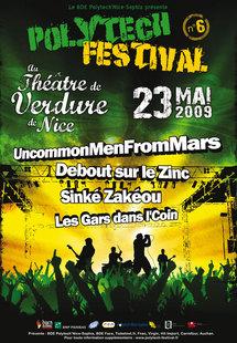 23 mai, 6e Polytech Festival au Théâtre de Verdure de Nice avec UncommonMenFromMars, Debout sur le Zinc, Sinké Zakéou, Les Gars dans le Coin au théâtre de verdure à Nice
