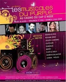 30 avril au 2 mai, Les « Musicales du Purple Lounge » au Casino du Cap d'Agde