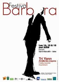 14, 15 et 16 mai, Festival Barbara à Saint-Marcellin (38)