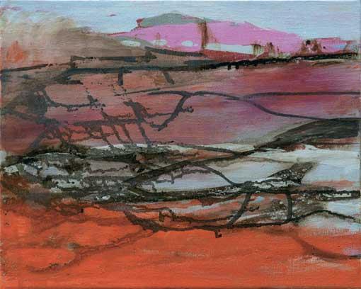 Christine Jean Fleuve rouge, huile sur toile, 33 x 41 cm, 2008-09