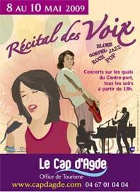8 au 10 mai, 4ème « Récital des Voix » au Cap d'Agde