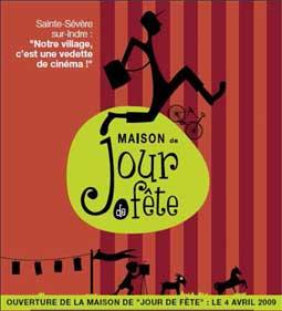 Un voyage dans le village de Sainte Sévère sur Indre, en 1947, transformé par la venue de Jacques Tati pour le tournage de son film Jour de fête.