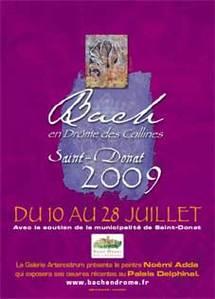 10 au 28 juillet, Festival Bach en Drôme des collines, à Saint-Donat (Drôme)