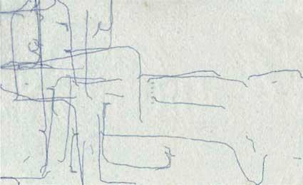 © Armanda Duarte, Lisboa no ano da cabra série de 60 dessins, 2003-04, stylo, crayon, papiers chinois, 21 x 13 cm