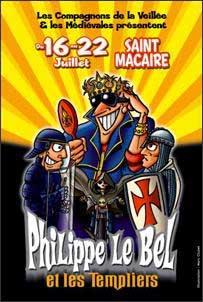 Philippe Le Bel, les Templiers, spectacle théâtral déjanté, Saint-Macaire, Gironde