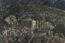 Vincent Boulièes, œuvre sur papier, techniques mixtes, format 120 x 80 cm. © Pierre Schwartz.
