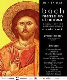 16 mai, Messe en Si mineur de Jean-Sébastien Bach par le Choeur Britten au Grand Temple de Lyon