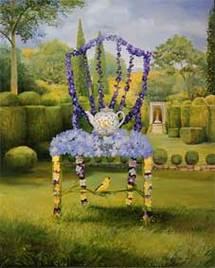 Timothy Martin Garden Party Delphinium, 2006 Huile sur toile © Timothy Martin