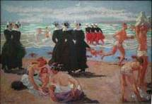 Baignade au pardon de Sainte-Anne-La-Palud, 1905 © ADAGP / Crédit photo : Catalogue raisonné de l'œuvre de Maurice Denis