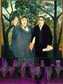 Henri Rousseau La Muse inspirant le poète (Portraits de Guillaume Apollinaire et Marie Laurencin), 1909, 131 x 97 cm Musée d'Etat des Beaux-Arts Pouchkine, Moscou © The State Pushkin Museum of Fine Art, Moscow