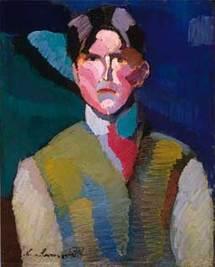 József Nemes Lampérth Autoportrait 1911, huile sur toile, Budapest, Galerie nationale hongroise
