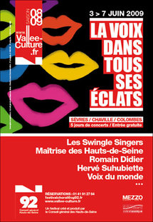 3 au 7 juin 2009, La voix dans tous ses éclats, 4ème édition à Sèvres, Chaville et Colombes