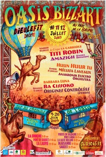 10 au 12 juillet, L'oasis Bizz'Art à Dieulefit, Drôme