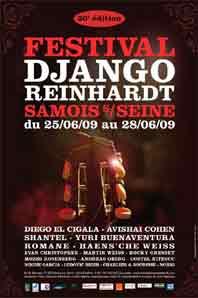 25 au 28 juin 2009, Festival de jazz Django Reinhardt à Samois‐sur‐Seine, sur l'Ile du Berceau