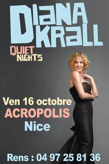 16 Octobre, Diana Krall en concert à Acropolis, Nice