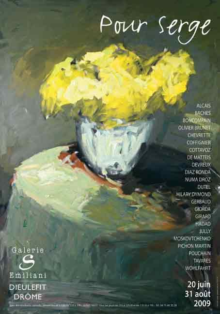 Pour Serge, exposition collective à la galerie S à Dieulefit, Drôme