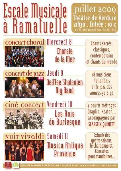 8 au 11 juillet, Escale musicale à Ramatuelle, théâtre de verdure