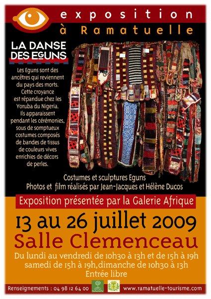 13 au 26 juillet, Exposition La Danse des Eguns, à Ramatuelle, salle Clémenceau