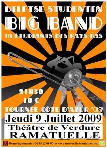 9 juillet, Escale musicale à Ramatuelle  / Delftse Studenten Big Band