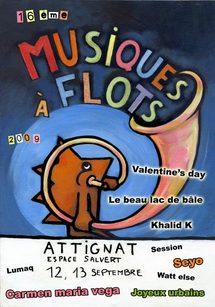 12 au 13 septembre, Festival Musiques à Flots, 16e édition à Attignat dans l'Ain,  Une nouvelle ribambelle de talents à découvrir !