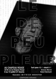 8 au 14 juillet, Le Dépeupleur de Samuel Beckett au Chapeau Rouge, Avignon Off