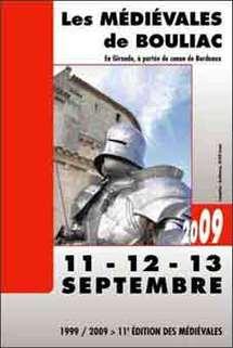 11, 12 et 13 septembre, Les Médiévales de Bouliac