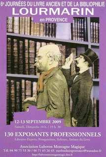12 et 13 septembre, 6e Journées Internationales du Livre Ancien et de la Bibliophilie à Lourmarin, Vaucluse