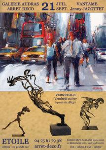 21 juillet au 21 septembre, exposition Vantame & Jenny Jacottet à la Galerie Audras - Arrêt Déco