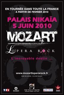 5 juin, Mozart l'Opéra Rock au Palais Nikaïa à Nice à 15h et 21h