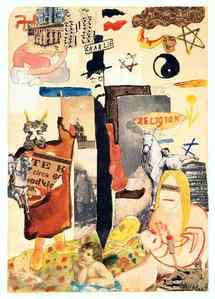 Charlie, Aquarelle et collage sur papier, 1920,.