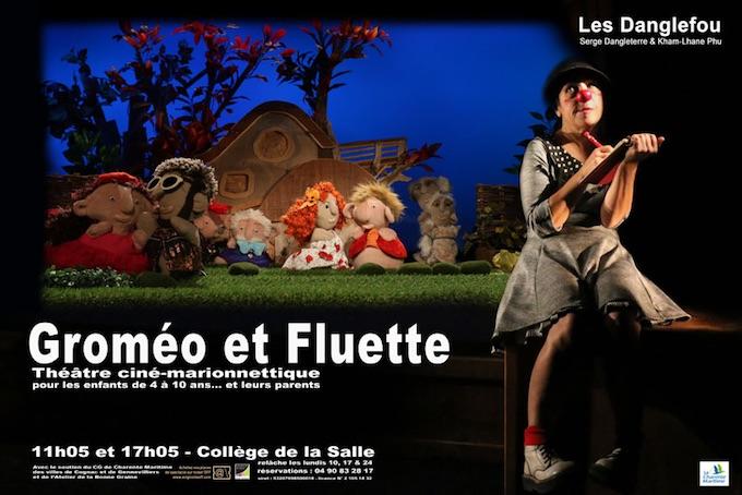 Groméo et Fluette. Clown et cinéma avec échappées de marionnettes, Collège de la Salle, 11h05 et 17h05, Avignon Off