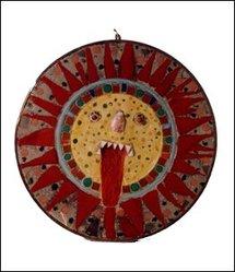 Josué Virgili, sans titre (visage-soleil, emblème de L'Aracine), avant 1982. Donation L'Aracine. MAM LM. Photo : P. Bernard. DR