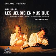 Octobre, Les Jeudis de la Musique à la Salle Jean Moulin de la Maison des Etudiants de Montpellier