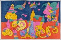 Ubu Roi - Paris Tériade Editeur. 1966, lithographie originale, donation A. Tériade © Successió Miró, Adagp - Musée départemental Matisse, Le Cateau-Cambrésis
