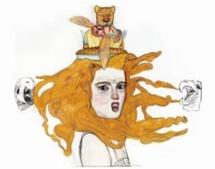 Alice au Pays des Merveilles - Le Quadrille des Homards Dessin tendu sur panneau de bois, 2003-2005 Technique mixte, 150 x 1 80 cm © Pat Andrea / ADAGP Paris 2009 Courtesy Diane de Selliers, éditeur