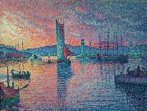 Paul Signac, Entrée du port de Saint-Tropez, 1901-1902, huile sur toile, 89 x 116 cm, collection privée © photo Patrice Schmidt, Paris