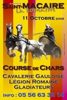 Le 11 octobre,  Les Médiévales de Saint-Macaire convient à un spectacle de ... l'Antiquité, en Gironde