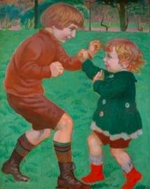 « La boxe » Maurice DENIS - 1918 Huile sur carton – 83,3 x 69 cm