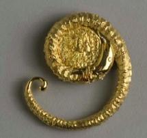 Dali, pendentif Serpent magique, or