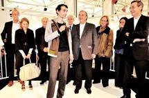 Saâdane Afif et le jury du Prix Marcel Duchamp 2009 - Photo Jennifer Westjohn