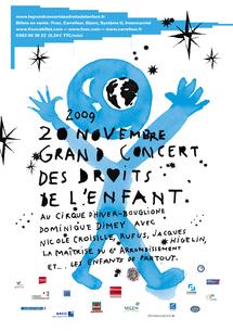 20 novembre, Le grand concert des droits de l'enfant, Cirque d'hiver Bouglione, Paris