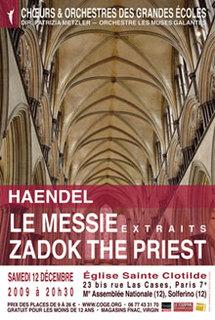 12 décembre, Le Messie (extraits) & Zadok the priest de Haendel, église Ste-Clotilde, Paris