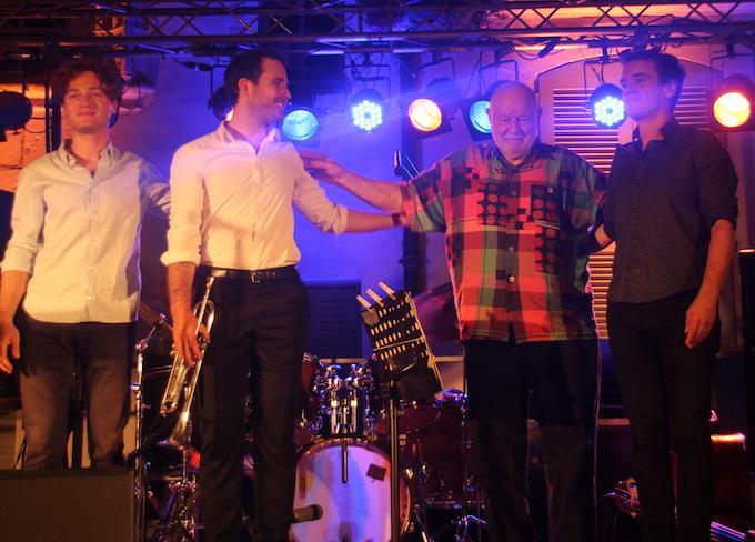 Thomas Enhco, piano, David Enhco, trompette, Daniel Humair, batteur,  Stéphane Kerecki, contrebasse © Pierre Aimar