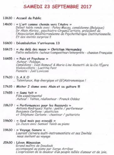 Marseille. Au Toursky « Les Journées Folles » : entre Folie Artistique et Artistique Folie les 22 et 23 septembre 2017