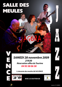 28 novembre, AGORA avec Jean Marc Jafet, Jean Yves Candela, François Arnaud, Amaury Filliard, Jean Luc Danna, à Vnece (06)