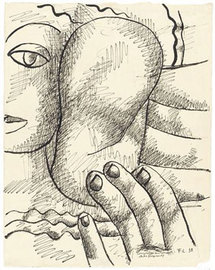 Fernand Léger Composition au perroquet, 1938 © ADAGP, 2009 © Photos RMN, Gérard Blot