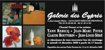 12 au 31 décembre, Claude Boutterin, Jean  Marc Peyer, Yann Rebecq, Jean Louis Sérié exposent à Saint Rémy de Provence