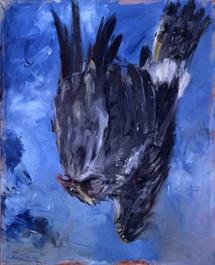 Georg Baselitz, Fingermalerei III - Der Adler, 1972  Museum Küppersmühle für Moderne Kunst, Sammlung Ströher  © Georg Baselitz