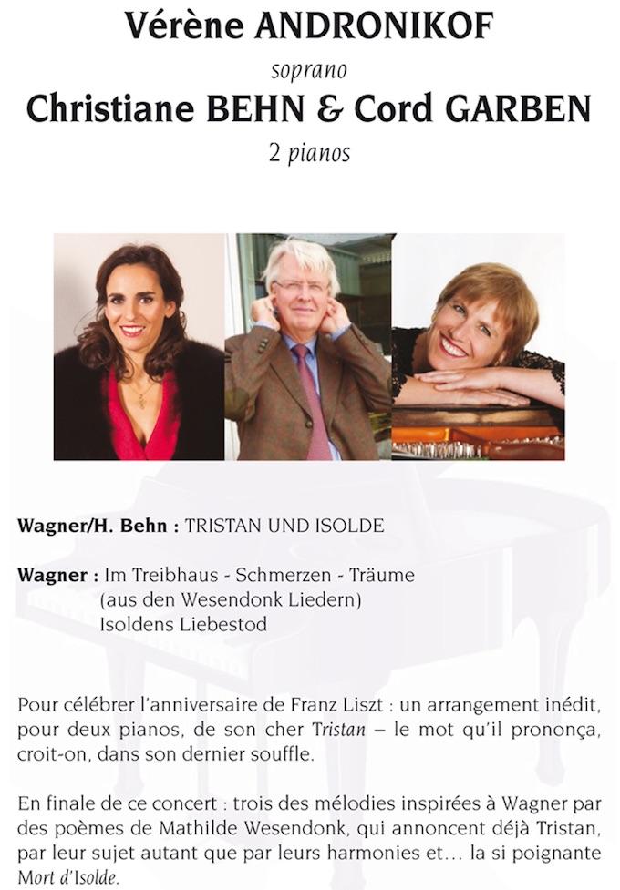Wagner pour fêter Liszt !, château d'Uchaux (Vaucluse) le 22 octobre 2017