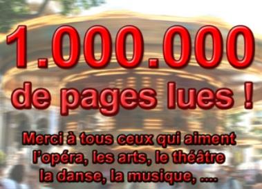 1.000.000 de pages lues sur le site arts-spectacles.com !